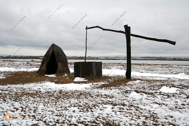 Ziehbrunnen im Winter